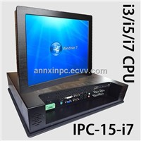 15 Inch Touch Screen Industrial all in one PC Support I5 I3 I7 CPU