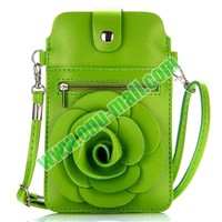 Iphone 6 PU Leather Bag with Detachable Shoulder Strap (Green)