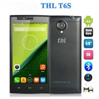 Wholesale 5 inch Quad Core 3G Mobile Phone THL T6s IPS Screen Android 4.2 3G GPS Smart phone 1GB RAM