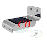 Outdoor 1W Intelligent Light Controll Solar LED Wall Lamp for Energy Saving