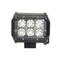 3inch Square 6PCS X 3W CREE LED 1600lm Spot Flood 18W CREE LED Work Light Auto 4X4 Truck