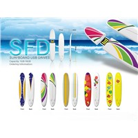 Special Surfboard Design Mini USB Flash Drive Disk