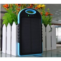 New Waterproof Solar Power Bank 5000mAh for Promotion