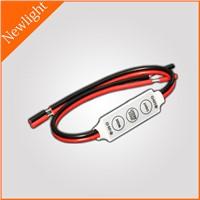 3 keys mini LED Controller / Dimmer 12A DC 12V for single color LED lighting fixture