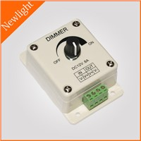 Turn-knob LED Dimmer / Controller 8A DC12V-24V for single color LED lighting fixtures