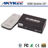 3D HD 1080P IR control  HDMI switch box 1 in 2 out