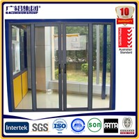 Silver anodized aluminium profiles fabricate balcony sliding doors with fly screen