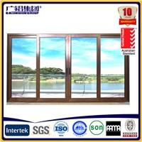 newly designed thermal break aluminium Sliding Windows with mosquito net