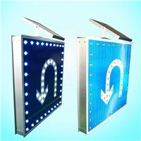 Solar LED Traffic Circle Sign /High Bright turn round direction LED traffic sign;
