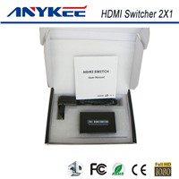 3D HD 1080P IR control 2 in 1 ourt 2 ports 2x1 HDMI switch