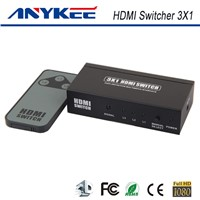 IR control 3D HD 1080P 3 way 3 in 1 out  3x1 HDMI switch