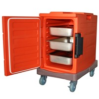 86 liter Insulated cabinet with dolly, food transport cabinet