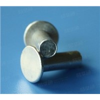 Round flat head solid stainless steel rivet