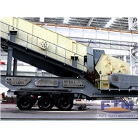 Construction Waste Tyre Mobile Impact Crushing Plant