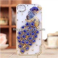 Rhinestone Peacock phone case for iPhone 4/5 series (MY-CS045)
