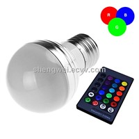 Color Changing E27 RGB LED Bulb with Remote Control