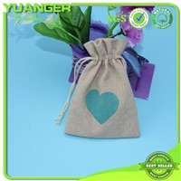 Favorable Price Small Gift Drawstring Linen Bags Manufacturer