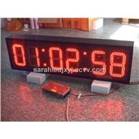 Hot sale outdoor red led digital clock