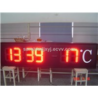 Red Color led time and temperature signs
