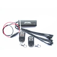 Single Color Dual-way Control Box M Plug 6 Ch Output & 2 Remote Controls For Motorcycle LED Lights