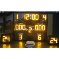 Yellow Color electronic basketball scoreboard