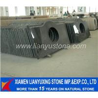 Absolute Shanxi Black granite stone vanity top