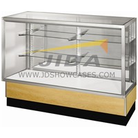Glass display showcase for store, office, library