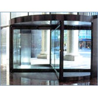 Four-wing automatic revolving door