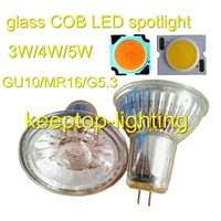 Cheap price glass housing COB LED spotlight,COB LED 3W/4W/5W ceiling spotlight,MR16/GU10 spotlight