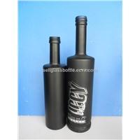 750ml black painting whiskey bottle