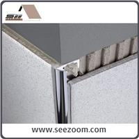 2.5m aluminium inside corner round tile edge trim
