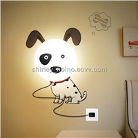 Wall lamp with DIY Wall stickers