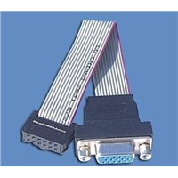 China shenzhen D-SUB ribbion cable for electronics scale ,1.27mm,UL2651 28AWG