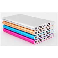 2015 Hot Selling Power bank credit card Metal aluminium alloy shell powerbank Made In China