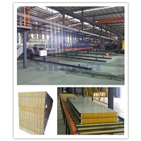automatic  high efficient mineral wool sandwich panel producton line