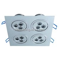 Factory wholesale 12W square Decorative Ceiling LED Lamps Lighting