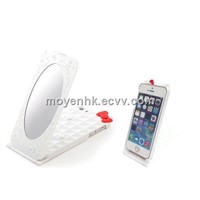Hard Plastic Mobile Phone Case with Mirror, Ladies Phone Case