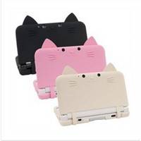 New Silicon Soft Case Cover For Nintendo 3DS  With Cat Ears Skin shipping