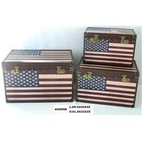 Stars&Stripes Wooden Storage Trunk