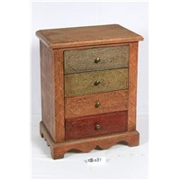 4 drawers wooden night table