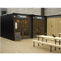 prefab modular shipping container coffee shop restaurant
