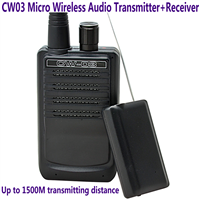 CW03 Micro Wireless Audio Transmitter Receiver 500Meter Long-Distance Spy Remote Sound Pickup Listening Audio Bug