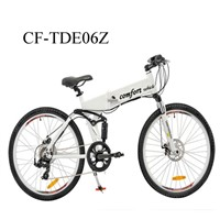 "CF-TDE06Z 26"" 36V Electric Folding Mountain  Bicycle"