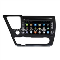 Factory Wholesale 2 Din 8-inch DVD Player Car With GPS For Honda Civic 2014
