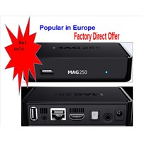 Factory Direct Offer Europe Hot Sale High Definition IPTV Set Top Box Mag 250