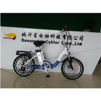 36V 10.4AH F disc brake and R V brake folding electric bicycle with TUV