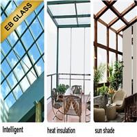 Opaque Laminated temperature control smart glass, Laminated + insulated  glass for winter EB GLASS