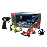 2 in 1 New Remote Control Flying UFO Car RC Car