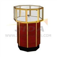 Octagonal Pedestal Showcase for Jewelry