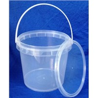 2.5Litre Clear Plastic Bucket,Food Container with lid